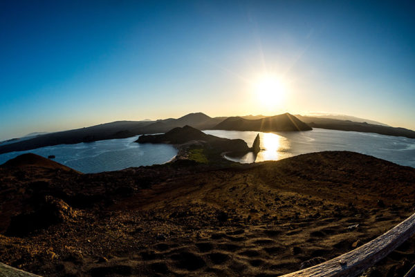 Bartolome Island view in The Galapagos Islands.