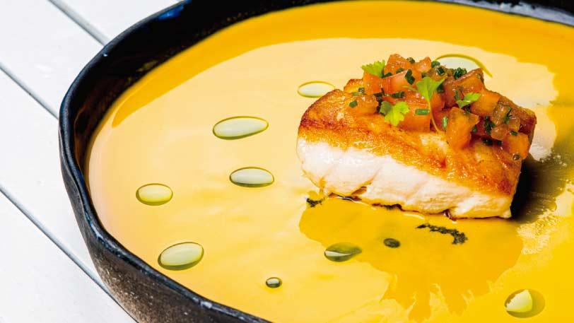 Ecuadorian traditional food at Finch Bay Galapagos Hotel
