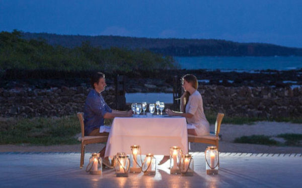 A romantic dinner under the stars at finch bay