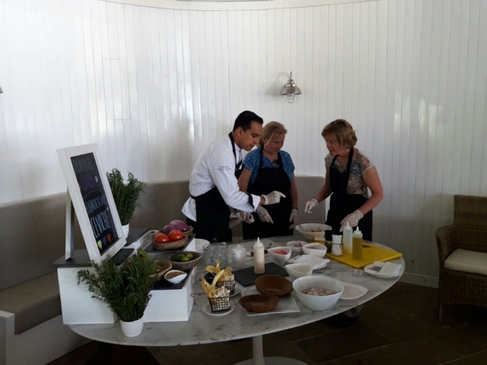 Cooking class at Finch Bay Galapagos Hotel