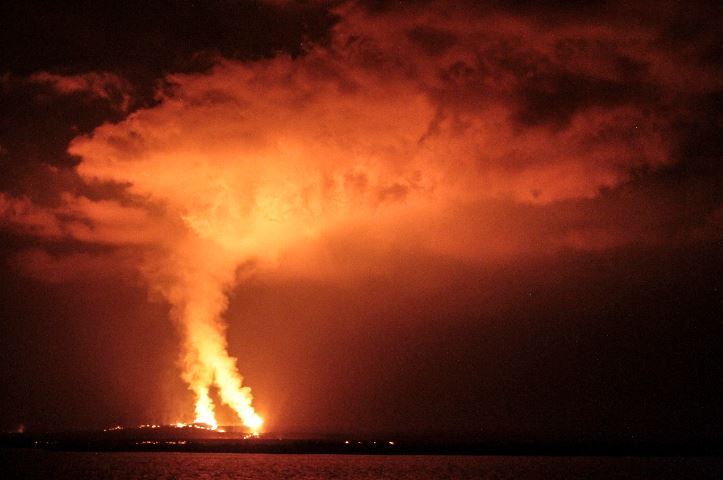 Sierra Negra Volcano eruption