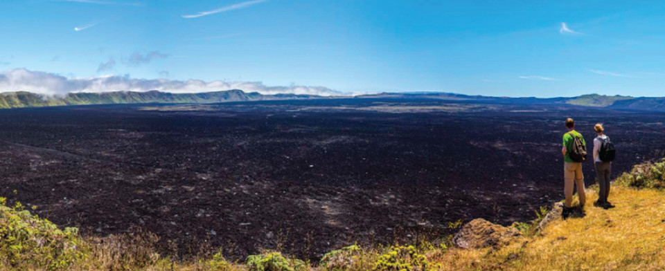 Sierra Negra volcano. Visited during your Galapagos island to island exploration