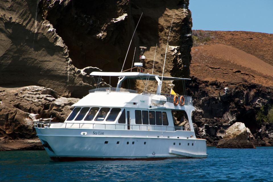 Visit Bartolome Island by yacht