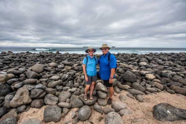 Finch Bay's guests exploring North Seymour Island.