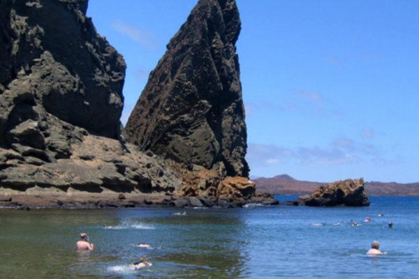 A pinnacle rock in the Bartolome island, Galapagos Island