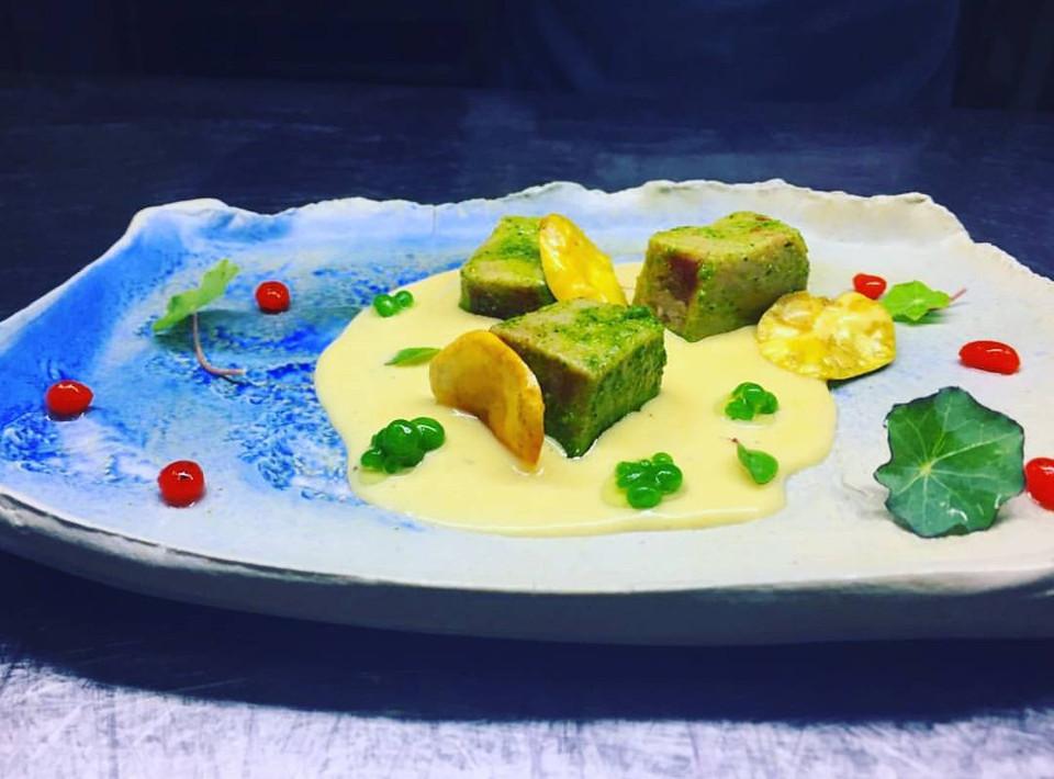Galapagos inspired dish at Finch Bay Galapagos Hotel