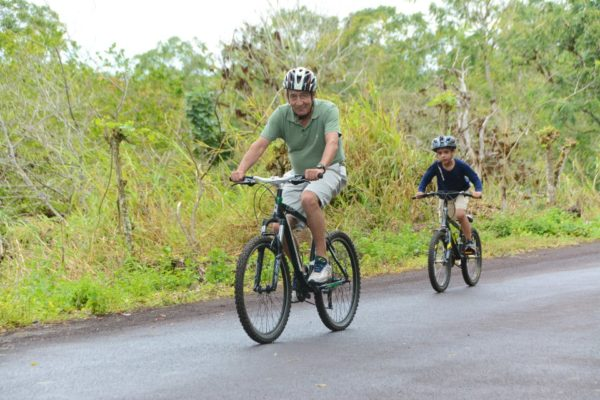 Biking in Galapagos is one of the available activities.