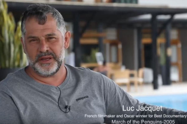 Luc Jacquet at the Finch Bay Galapagos Hotel