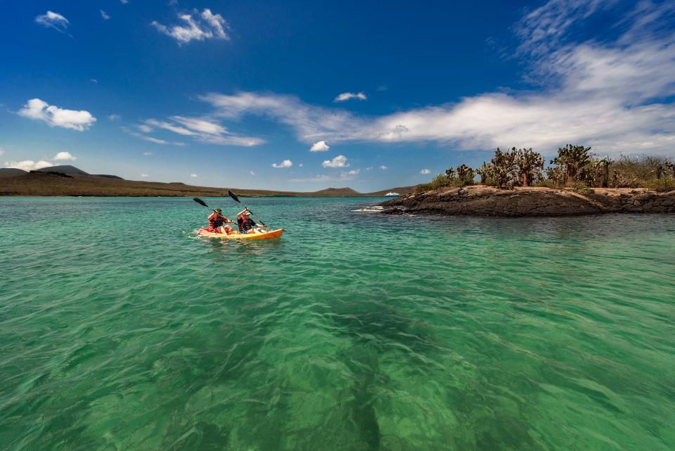 Kayaking at Divine Bay, Galapagos