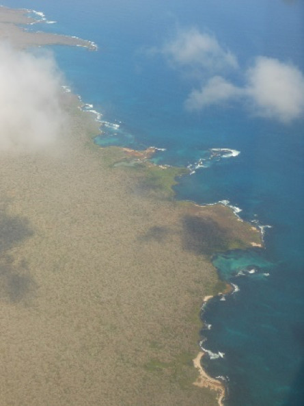 Aerial view during Galapagos Island Hopping Program