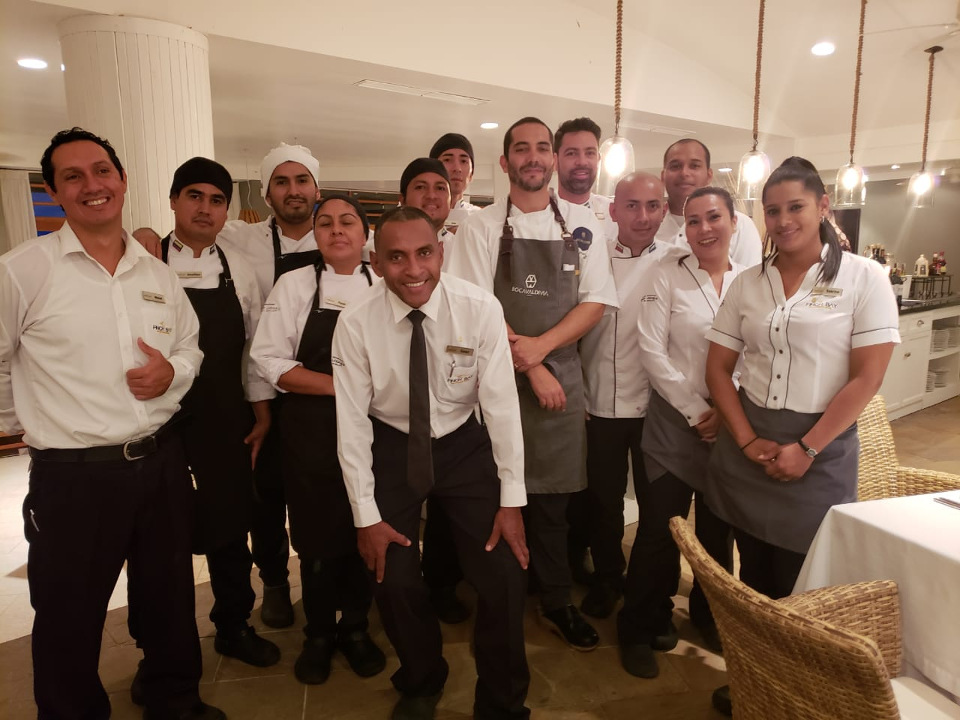finch bay galapagos hotel kitchen staff