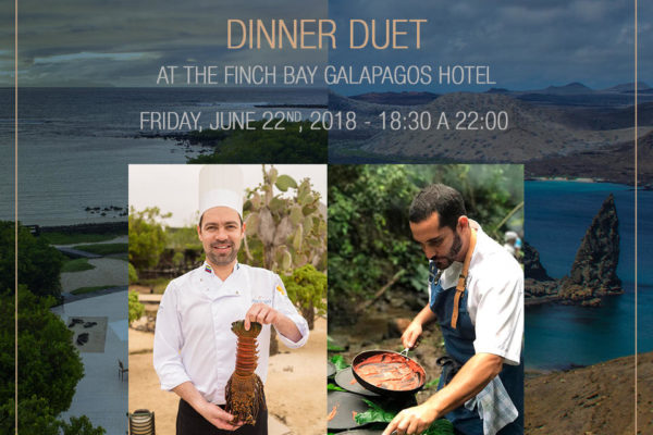 Chefs Rodrigo Pacheco and Emilio Dalmau at Finch Bay Galapagos Hotel