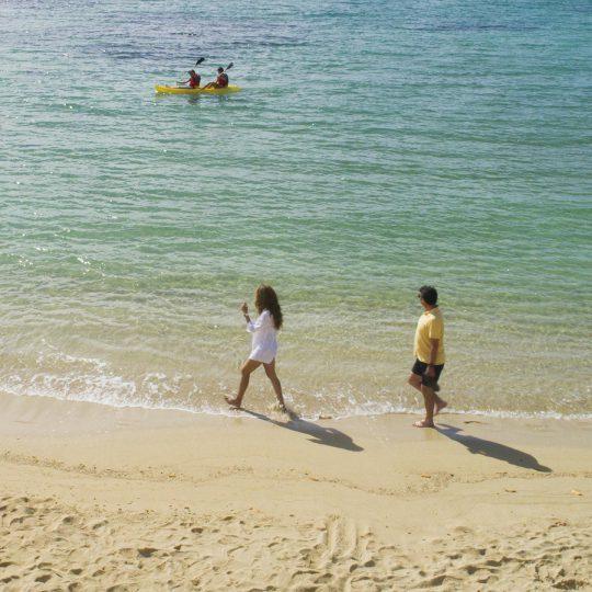 Garrapatero beach in Santa Cruz Island