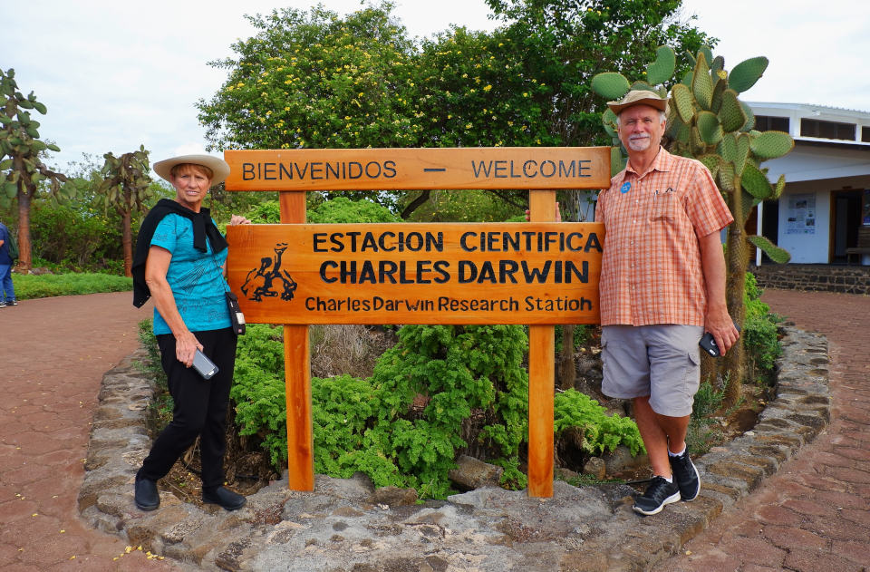 Entrance to the Charles Darwin Research Station in the Galapagos.