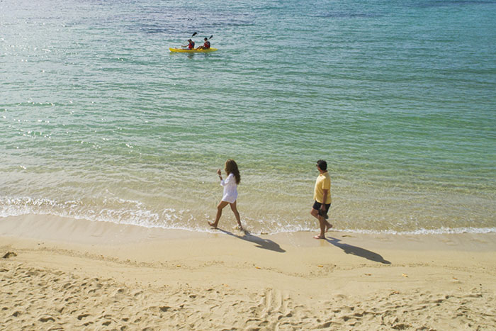Playa Garrapatero en la Isla Santa Cruz