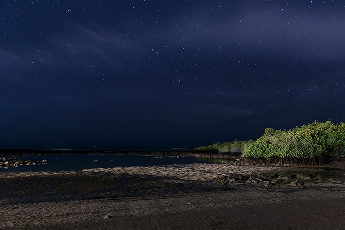 Cielo nocturno en el Finch Bay Galapagos Hotel