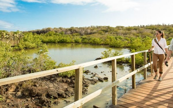 The trail to Las Grietas in the Galapagos Islands