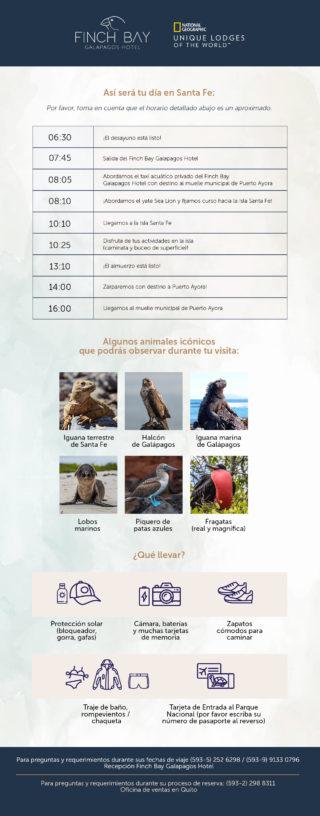 Itinerario del Yate Sea Lion: Isla Santa Fe