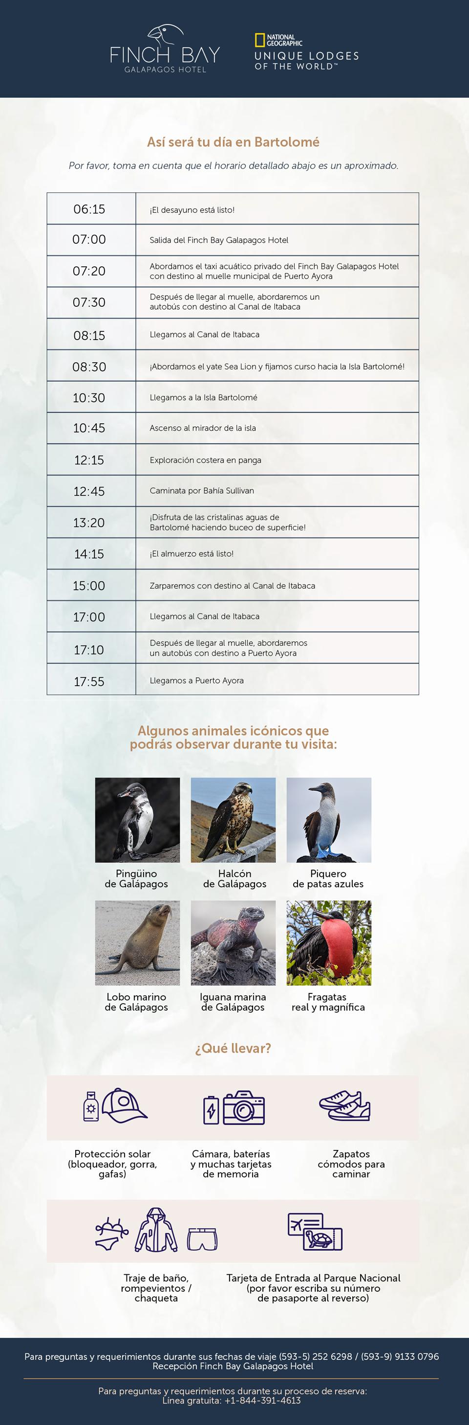 Itinerario Yate Sea Lion: Isla Bartolomé