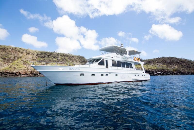 Sea Lion Yacht in North Seymour Island and Las Bachas Beach