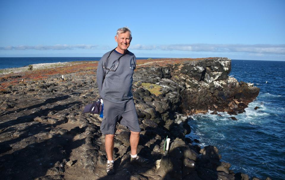 Acantilados en Plaza Sur en las Islas Galápagos