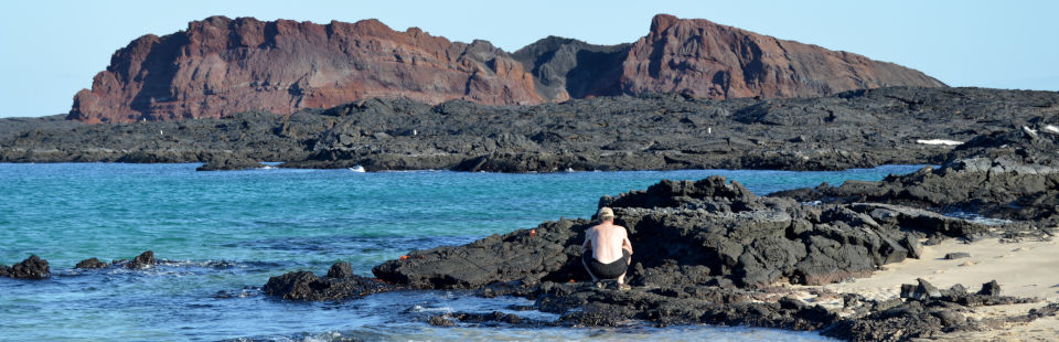 Bahía Sullivan en la Isla Santiago, Galápagos