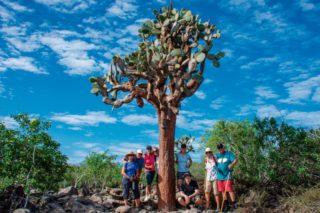 Our guests exploring Santa Fe Island
