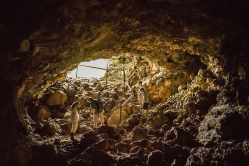 Explore the lava tunnels during your stay at the Finch Bay Hotel
