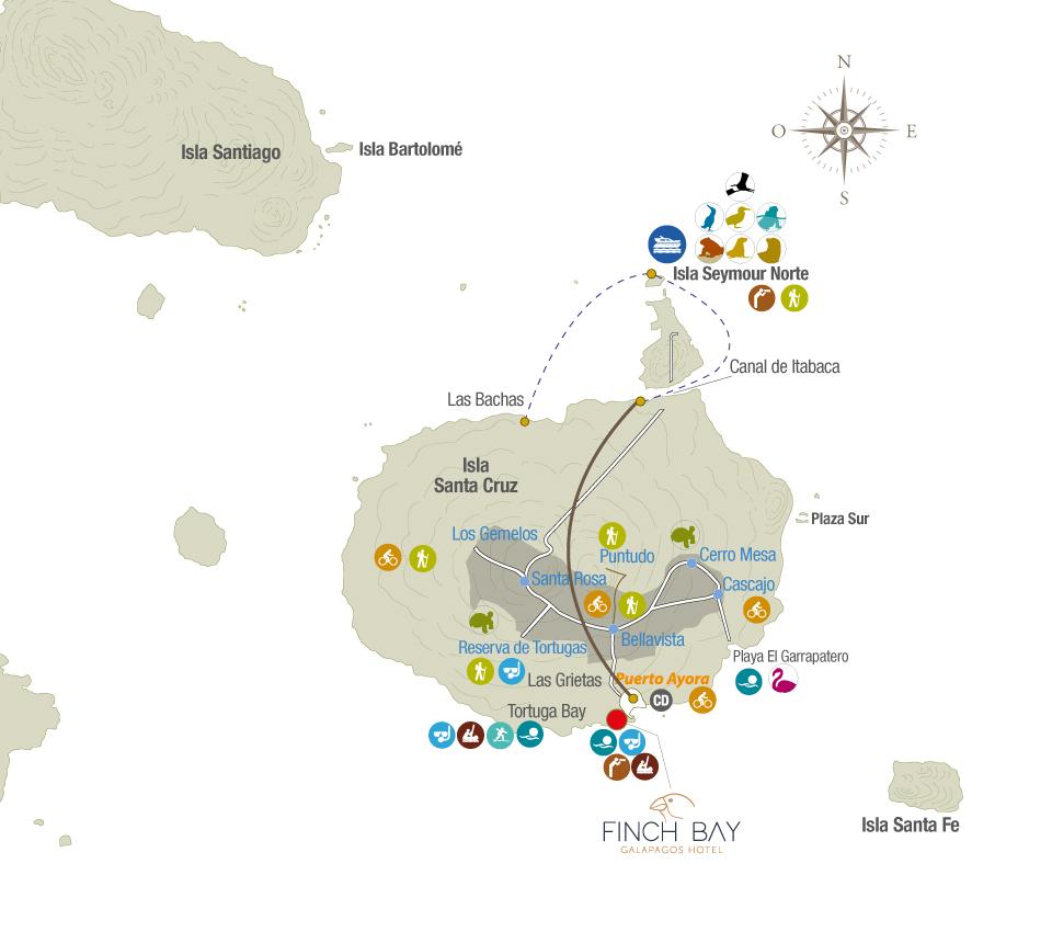 Ruta a Isla Seymour Norte desde Puerto Ayora, Galápagos