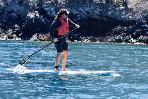 Paddleboarding in Galapagos