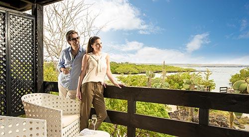 Vista desde el balcón de una Suite Finch Bay