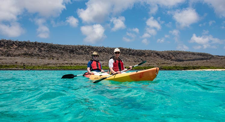Kayaking in Galapagos through the Finch Bay Hotel's Complete Program