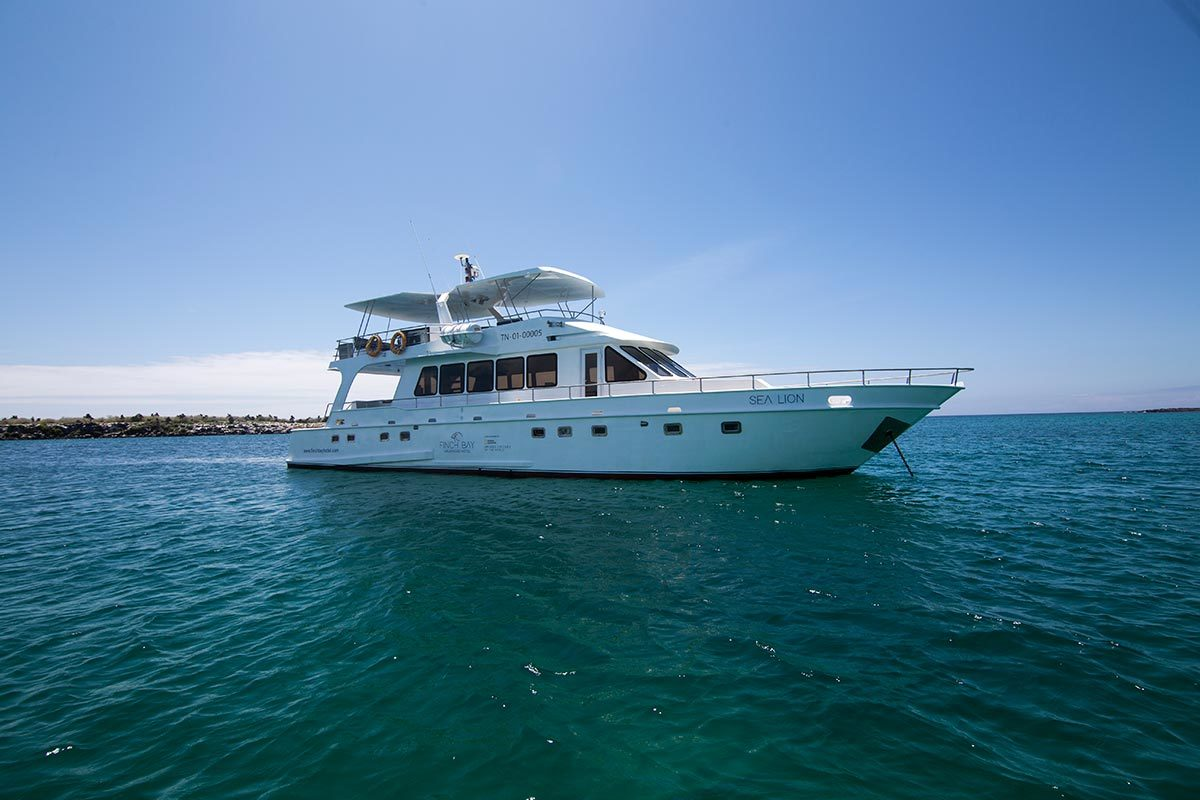Finch Bay Hotel's Sea Lion Yacht in Galapagos.
