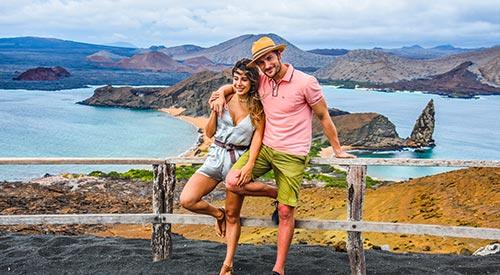 Couple in Bartolome Island