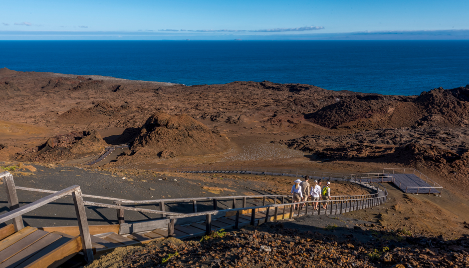 Trekking at Bartolome Island, Galapagos Islands