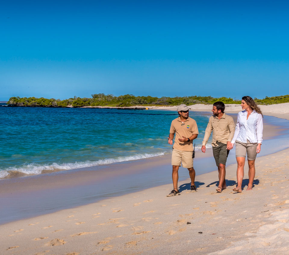 Playa Las Bachas en las Islas Galápagos