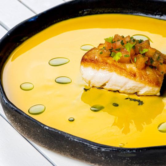 Deliciosa sopa del Finch Bay