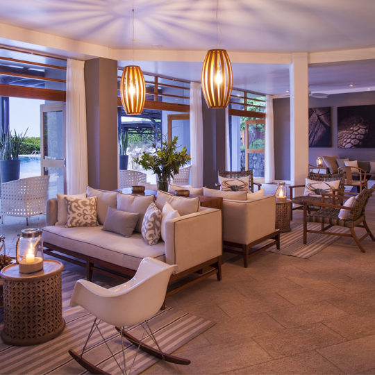 A view of the Finch Bay Galapagos Hotel`s lounge