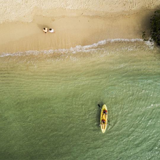 Kayak en el Finch Bay Galápagos Hotel